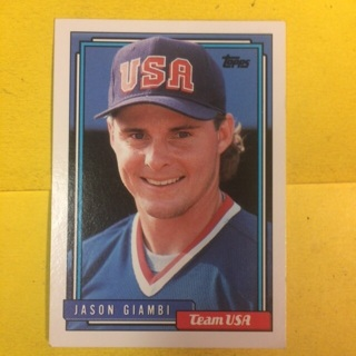 1992 Topps #40T INF Jason Giambi - Team USA