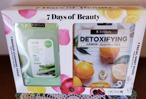 K Beauty, 7 Days of Beauty 8pc Gift Set!