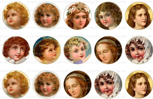 free 4 x 6 printable sweet angel faces 1 inch graphics emailed
