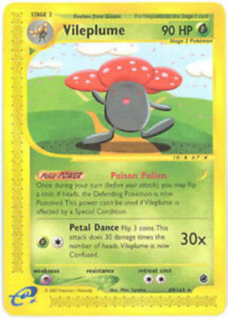 1 Pokemon Card Vileplume - 69/165 - Rare Expedition pokemon cards tcg