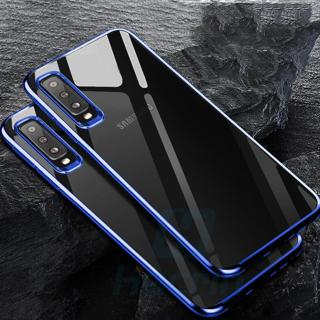 Silicone Case For Samsung Galaxy A7 2018 Cover Transparent Plating Case Protective Bumper Cover fo