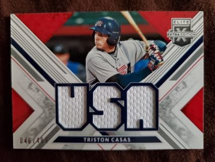 2019 Panini Elite Extra Edition USA Materials Triple Jersey Triston Casas