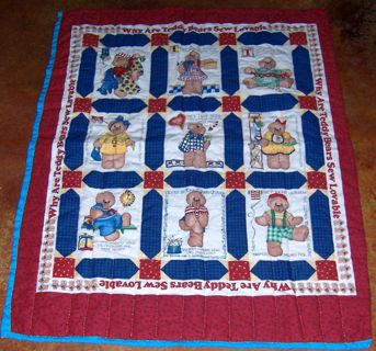 Handmade Bear quilt Baby/Toddler