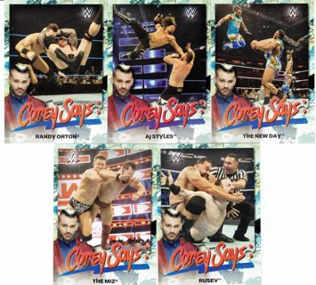 5-WWE CARDS (2019)