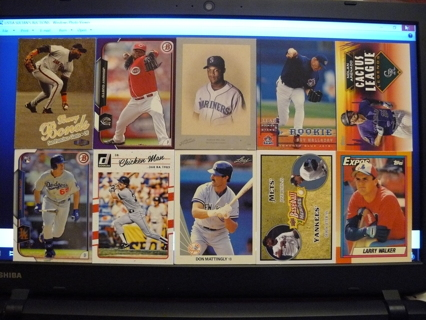 (10) Baseball Cards Stars, HOFers, Serial #'d or Inserts - LOT 19 - Read Details