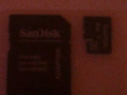 SanDisk Memory Card & Adapter!!!! With Case!!