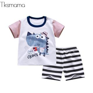 Brand Designer Baby Boys Clothes Sets Newborn-baby-clothes Infant Cartoon Pullover T- Shorts Costu