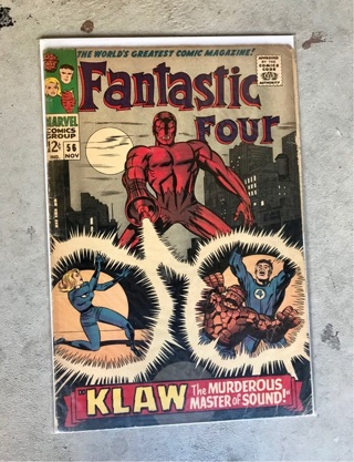 Fantastic Four #56 12 cent Cover Silver Age