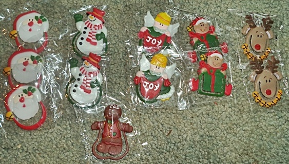 12 Christmas Bookmarks / Party Favors
