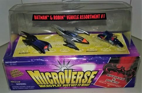 1997 MicroVerse miniature Batman & Robin micro vehicles - New/sealed