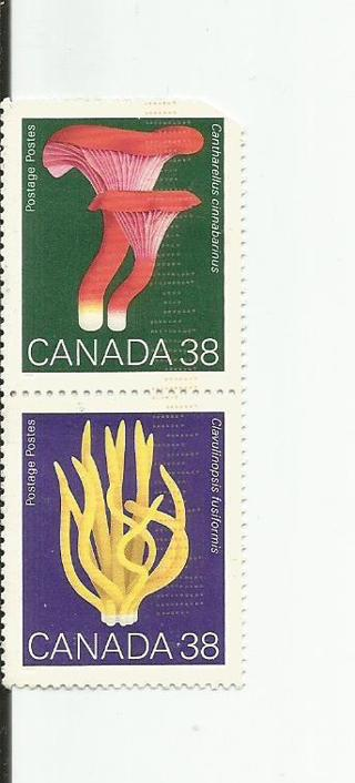 2 used Canada stamps of paper