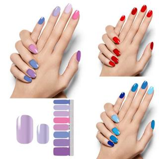 16 Tips/sheet Nail Stickers Art Decorations Manicure DIY Nail Polish Strips Wraps Sally Women Vale