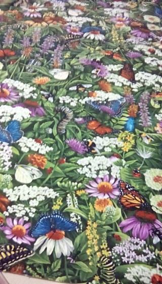 Fabric - IN THE GARDEN. 18 1\2 X 22