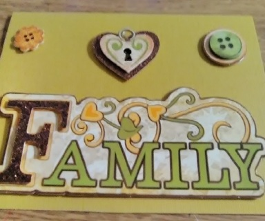 """"""" Family """" Design Blank Card with Envelope"""