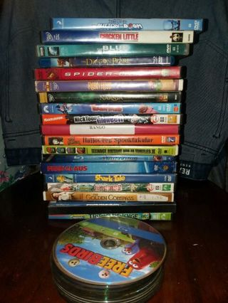 Huge kids dvd and Blu ray movie lot!!!