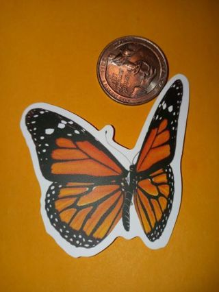 Butterfly beautiful new big vinyl lab top sticker no refunds regular mail only no lower
