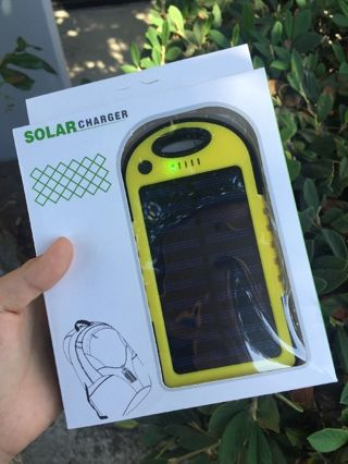 Waterproof Dual Solar Charger & Power Bank