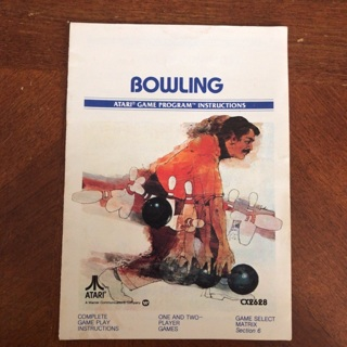 Bowling video game instruction manual for Atari 2600