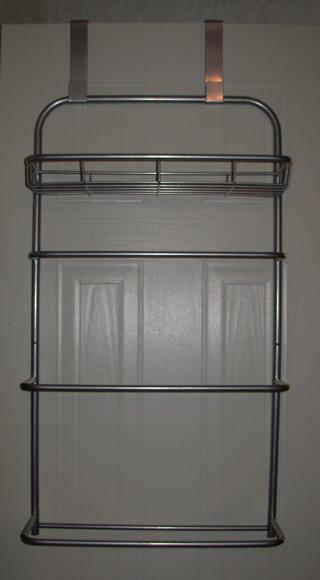 Free Over The Door Metal Bathroom Towel Rack With Shelf Other Home Gardening Items Listia