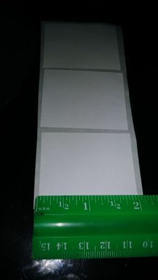 (15) *MED* SIZE- WHITE PLAIN LABELS/STICKERS FOR PAPER CRAFTS