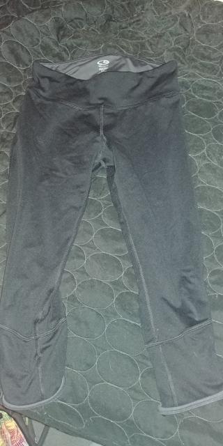Champion black crop legging capris small