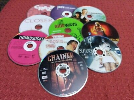 10 DVD Movies - discs only - Rated R - PG - unrated
