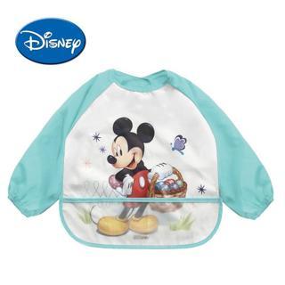 Disney Waterproof Baby Bibs Long Sleeve Cartoon Cotton Minnie Bib Burp Clothes Baberos Baby Stuff