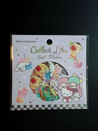 "'2020'~""Sanrio Characters"" Seal Flakes Sticker Sack *Japan Exclusive!!* ☆Kawaii Bonus '20' Mini's☆"