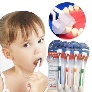 Child Toothbrush 3 Sided Ultrafine Soft Bristle Baby Tooth Brush Health Teeth