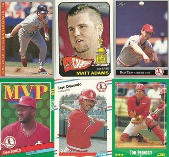 10-Card Lot of St. Louis Cardinals Baseball Cards