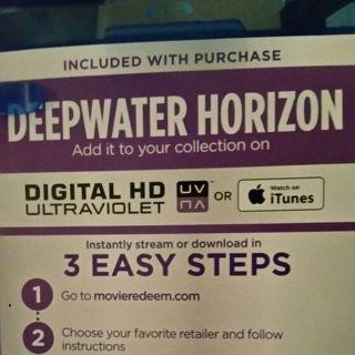 Deep Water Horizon Digital copy