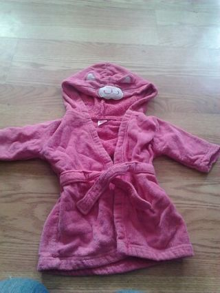 Girls bathrobe 0-9 months