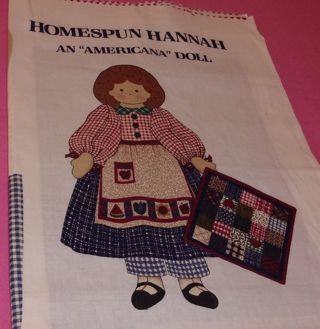HOMESPUN HANNAH DOLL KIT