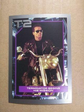 1991 Terminator 2 Terminator Begins His Mission #9 Card!