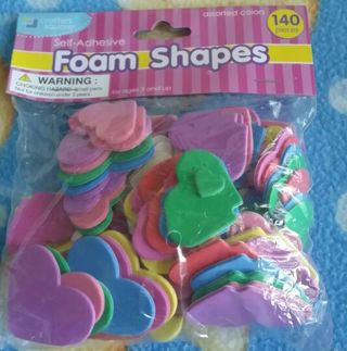 Foam Shapes Lot, 541 pieces. Perfect for scrapbooking