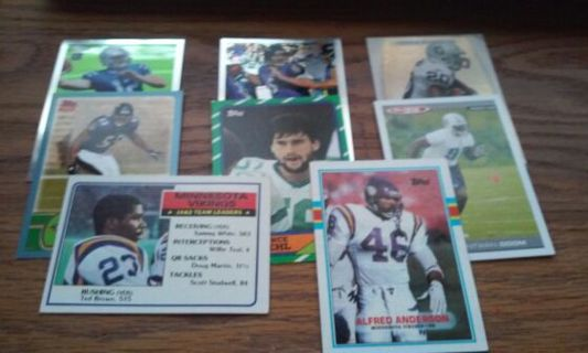8 topps football cards