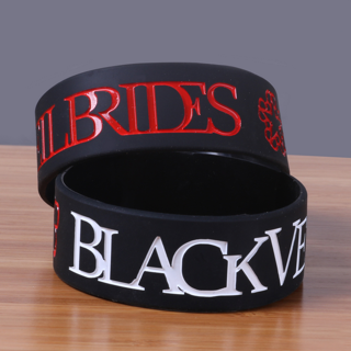1 BLACK black veil brides Wrist Band Bracelet Music Band GLAM Metal punk