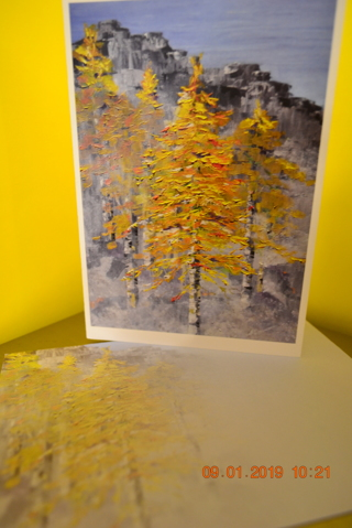 "****""TREES AND MOUNTAINS"" BLANK CARD W/MATCHING ENVELOPE***FREE SHIPPING"