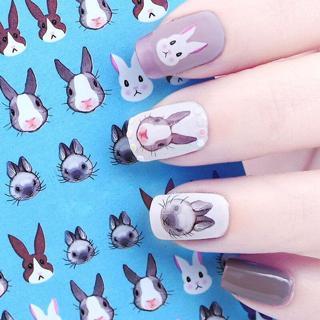Water Decal Nail Transfer Sticker Rabbit Kawaii Bunny Design Manicure Decor Tips
