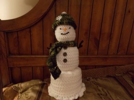 Snowman Bathroom Tissue Cover  Camo