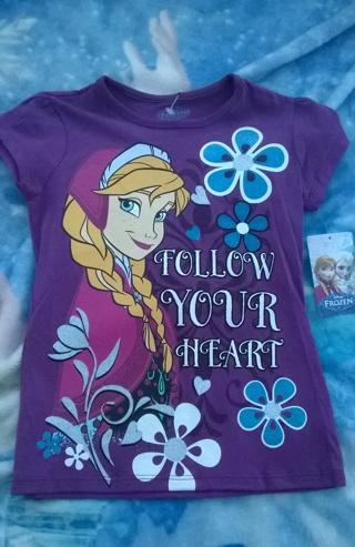 Brand New Disney's Frozen Girls Anna Shirt size 7/8