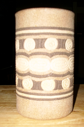 beautiful Stone Jar with the word Faith engraved on the bottom