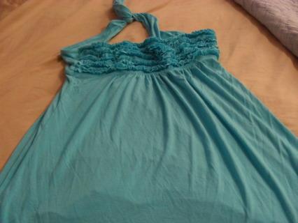 Victoria Secret top turquoise blue size L