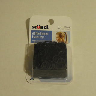 Free Scunci Small Black Rubber Bands For Hair New Pack