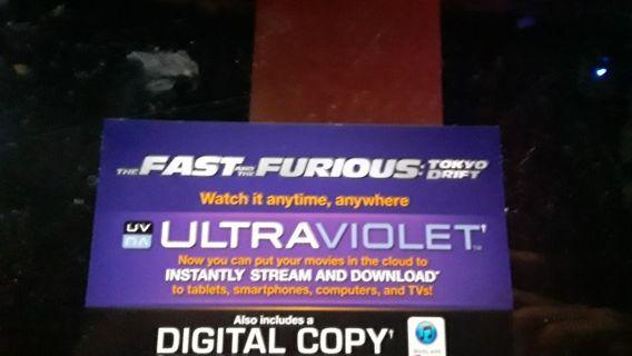 TFF Tokyo Drift UV digital code
