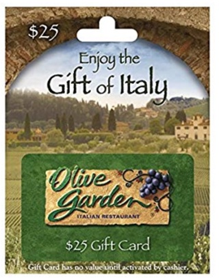 $25.00 Olive Garden Gift Card