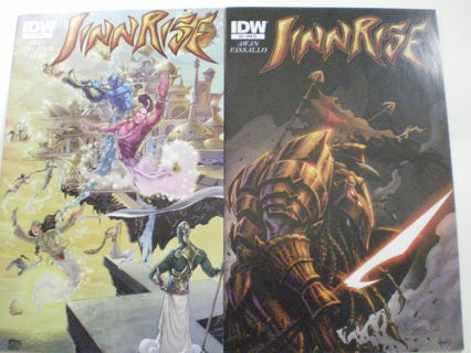 Set of 2 Jinnrise #2-3 VF/NM RI Cover IDW Retailer Incentive