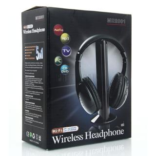 FREE! NEW 5 IN 1 HIFI MH2001 WIRELESS EARPHONE HEADSET HEADPHONE FOR FM RADIO MP3 TV