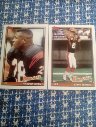 Topps#256 Eddie Brown and #258 Harold Green