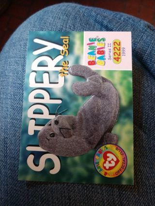 Beanie babies card - Slippery